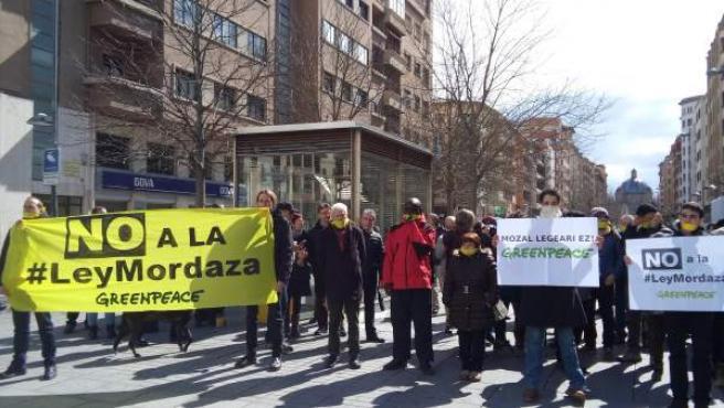 Concentración en Pamplona contra la Ley Mordaza