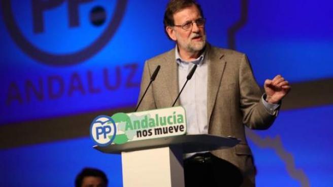 El presidente del Gobierno, Mariano Rajoy, en un acto del PP en Marbella.
