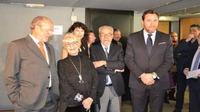 Valladolid (17-03-2018).- Concha Velasco junto a los tres alcaldes democráticos