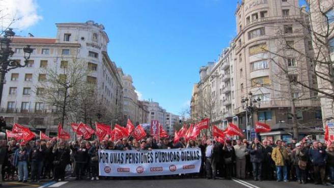 Manifestación por pensiones dignas en Santander