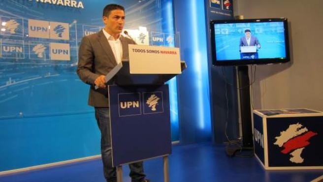 El vicepresidente de UPN, Óscar Arizcuren