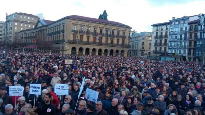 Manifestación en Pamplona en defensa de 'unas pensiones dignas'