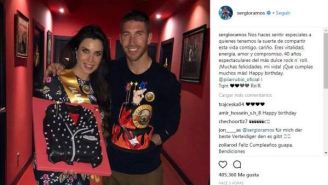 La actriz Pilar Rubio y el futbolista Sergio Ramos comenzaron a salir en 2012.