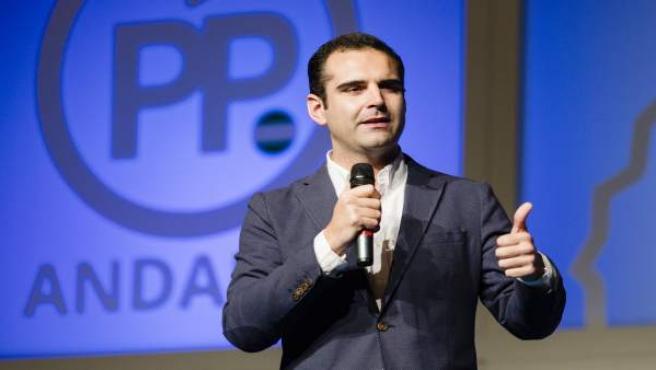 El alcalde de Almería, Ramón Fernández-Pacheco, en el acto del PP en Marbella