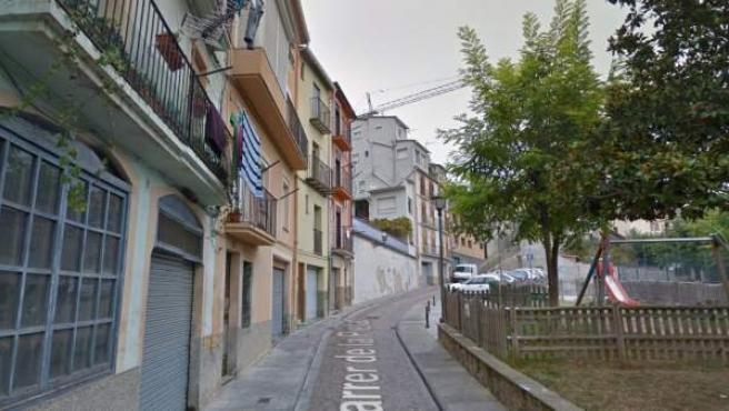 El domicilio de la víctima se encontraba en la calle Pietat de Berga.