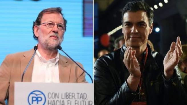 Combo de fotos de Mariano Rajoy y Pedro Sánchez.