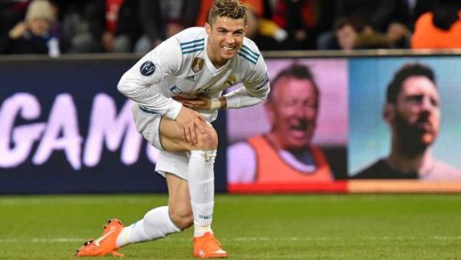 Cristiano Ronaldo durante el partido ante el Paris Saint-Germain.