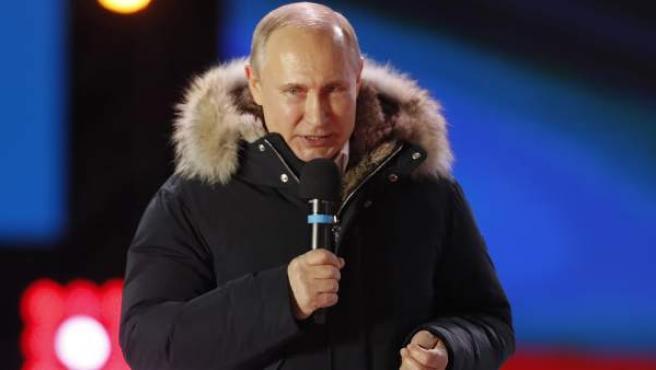 El presidente ruso, Vladimir Putin, durante un acto celebrado recientemente.