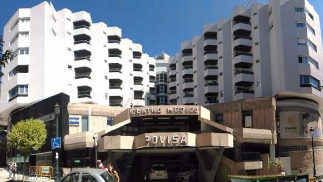 Fachada del hospital Povisa, en Vigo.