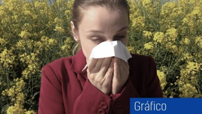 Estornudar, uno de los síntomas más frecuentes en los procesos alérgicos.