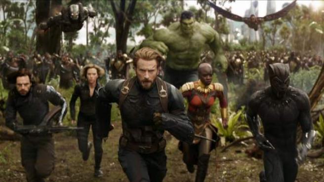 Steve Rogers en una escena de 'Vengadores: Infinity War'.