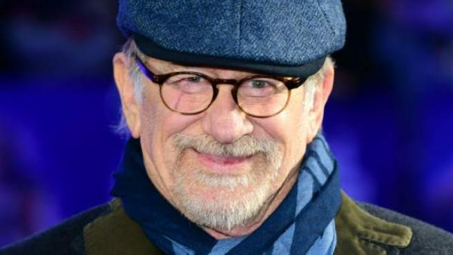 Steven Spielberg, en la 'premiere' de 'Ready Player One', en Londres.