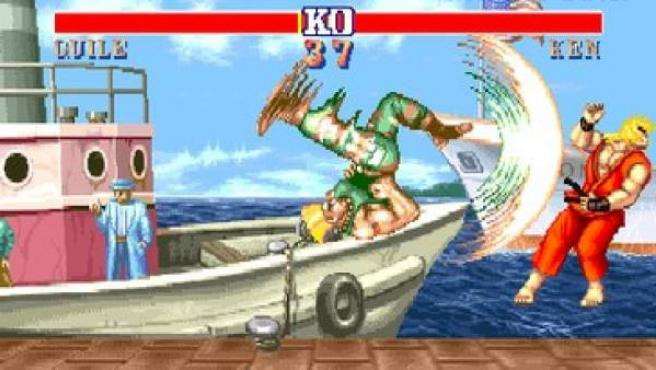 Una captura del videojuego 'Street Fighter II'.