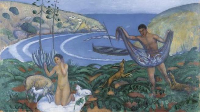 Joaquim Sunyer. Mediterráneo, c. 1910-1911. Óleo sobre lienzo, 85,5 x 130 cm. Carmen Thyssen-Bornemisza Collection © Joaquim Sunyer, VEGAP, Málaga, 2013
