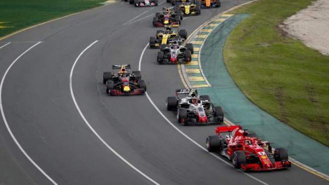 Vettel, en cabeza en el GP de Australia.