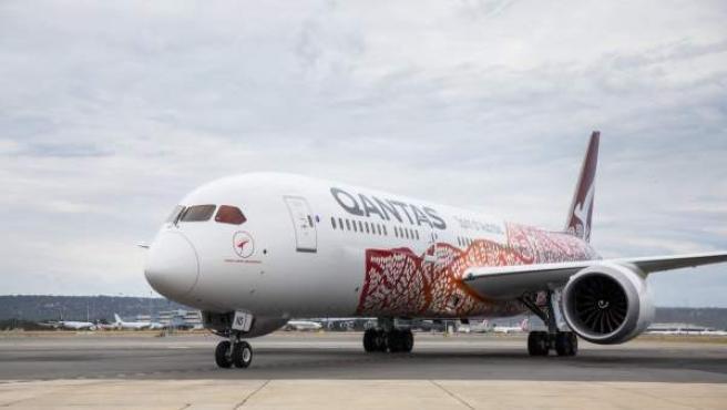 Avión de la compañía Qantas, responsable de este trayecto.