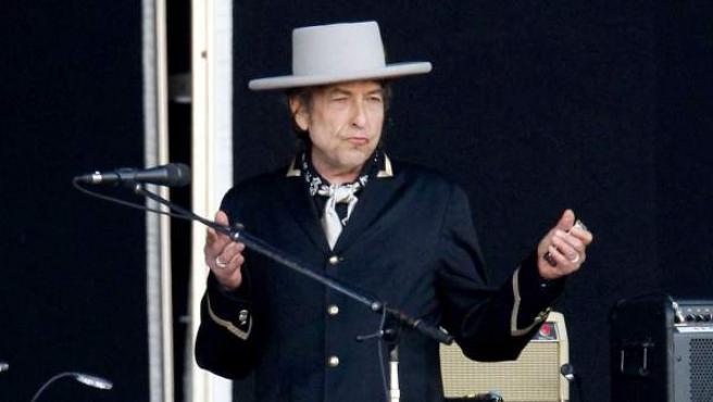 El artista Bob Dylan durante su concierto en Rock in Rio 2008 (Madrid, España)