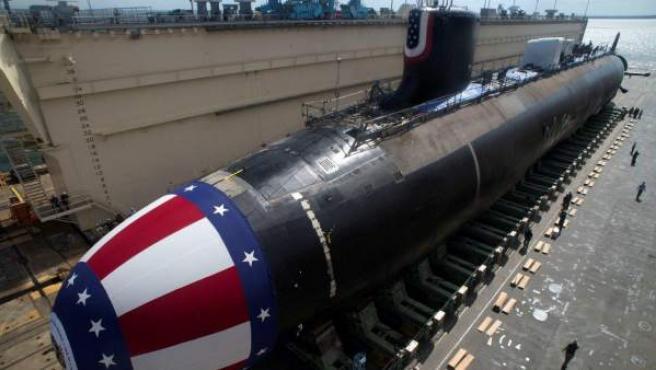 """El submarino estadounidense 'USS John Warner' ha llegado a la base de la Royal Navy de Gibraltar en el marco de una """"visita programada""""."""