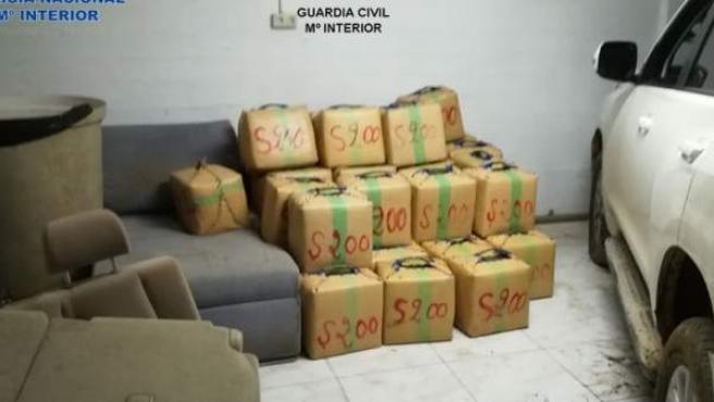 Imagen de archivo de una incautación de droga en La Línea (Cádiz).