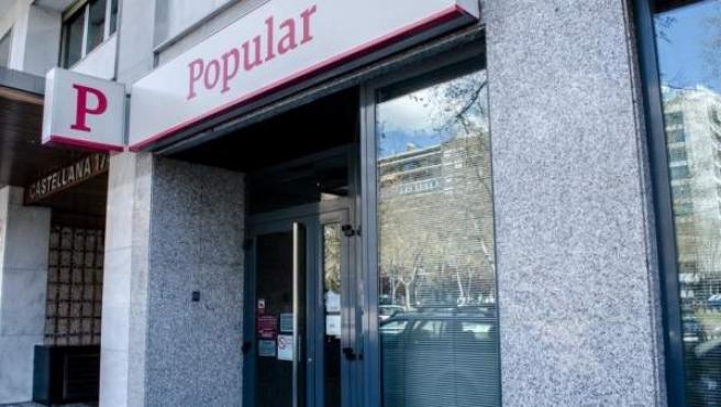 Una sucursal del Banco Popular, en una imagen de aerchivo.