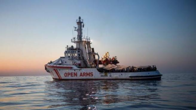 Barco insignia de Proactiva Open Arms, de salvamento de refugiados.
