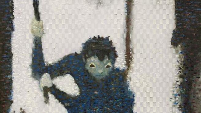 Elespe. The Fall Gardener, 2015-17. Oil on aluminum panel. 40x25cm. Cortesía Maisterravalbuena