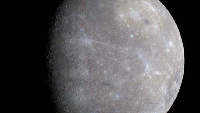 El planeta Mercurio, fotografiado por la sonda espacial Messenger.