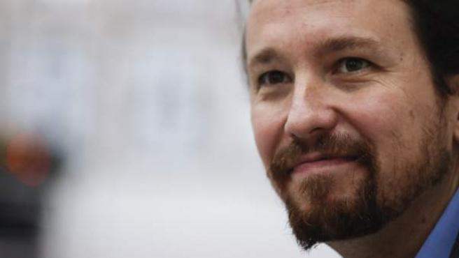 Pablo Iglesias, secretario general de Podemos, este lunes en La Plata (Argentina).
