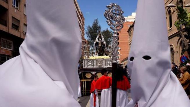 Capirotes de la Cofradía La Borriquita de Almería.