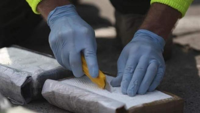 Cocaína intervenida por la Policía Nacional.
