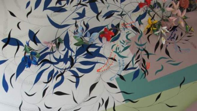 Un detalle de la obra 'Wild Style', ideada por la artista Nuria Mora para Centro de Arte Tomás y Valiente de Fuenlabrada.