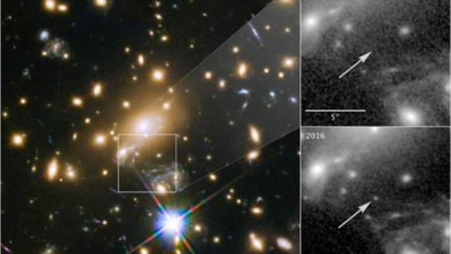 El telescopio Hubble detecta la estrella más lejana jamás observada