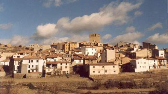 Vistas del pueblo castellonense Portell.