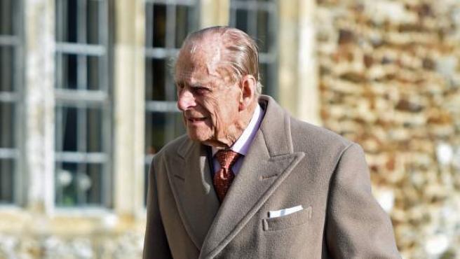 El príncipe Felipe, duque de Edimburgo, asiste a un acto religioso el 4 de febrero de 2018.