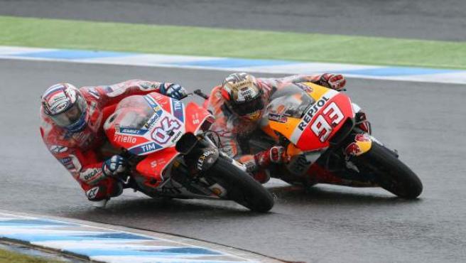 Andrea Dovizioso y Marc Márquez (GP Japón)