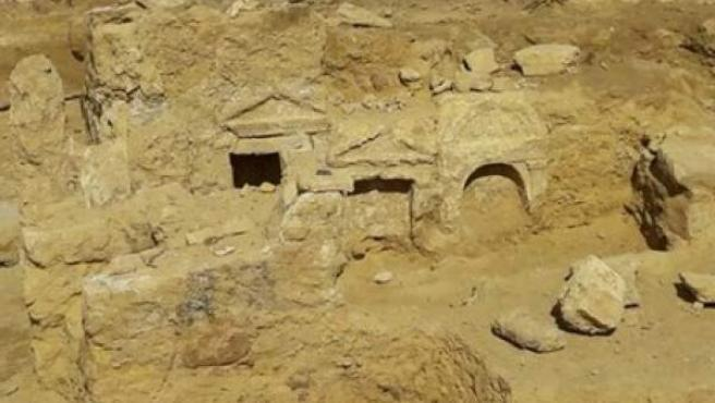 Templo grecorromano en Egipto.