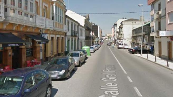 Imagen de la N-VI a su paso por Guitiriz, Lugo.