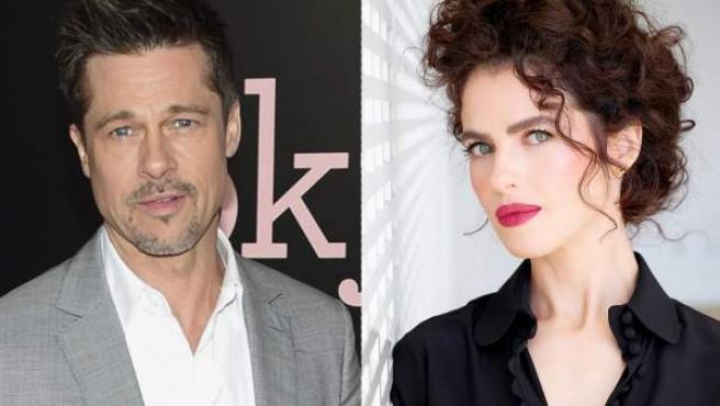 El actor Brad Pitt y la arquitecta Neri Oxman.