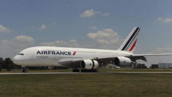 Un Airbus A380 de Air France.