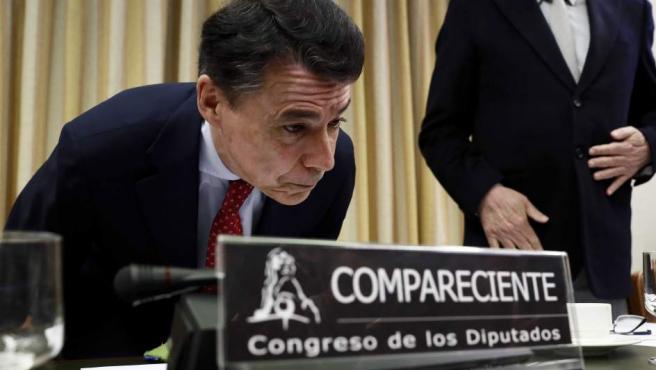 El expresidente de la Comunidad de Madrid Ignacio González, a su llegada para comparecer ante la Comisión.