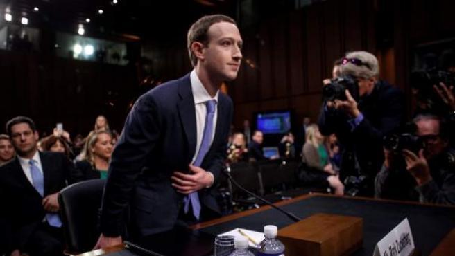 Zuckerberg, ante el Senado estadounidense en Washington D.C.