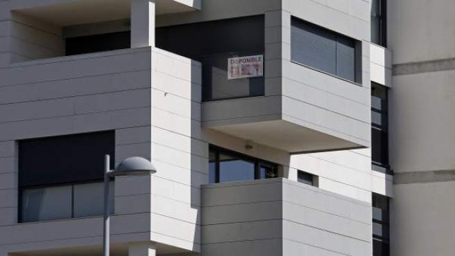 Plano medio de un bloque de pisos.