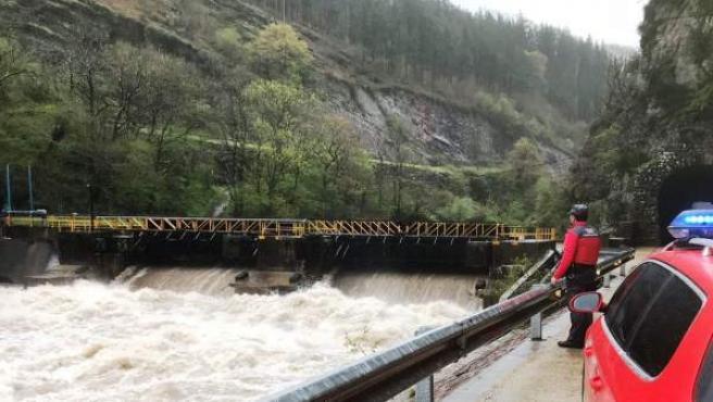 Presa del río Bidasoa en Santesteban