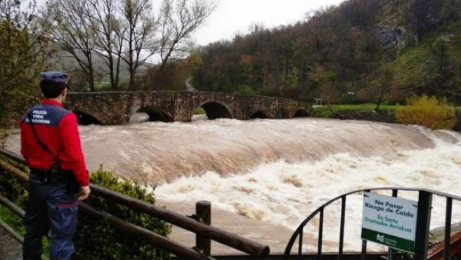 Imagen del río Ulzama por la Trinidad de Arre