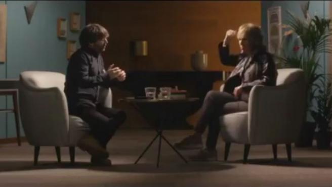 Fotograma del vídeo promocional de 'Salvados' para su entrevista con la periodista Mercedes Milá
