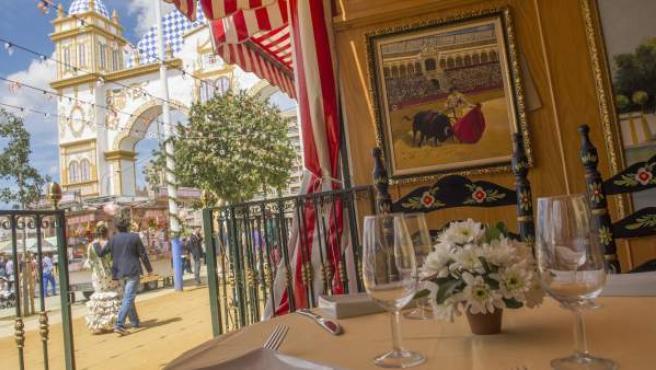Gastronomía de la Feria de Abril de Sevilla.