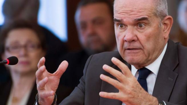 El expresidente de la Junta Manuel Chaves, durante su interrogatorio en el juicio de los ERE.