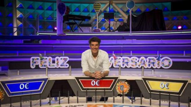Una imagen de 'La ruleta de la Suerte', con Jorge Fernández al frente.