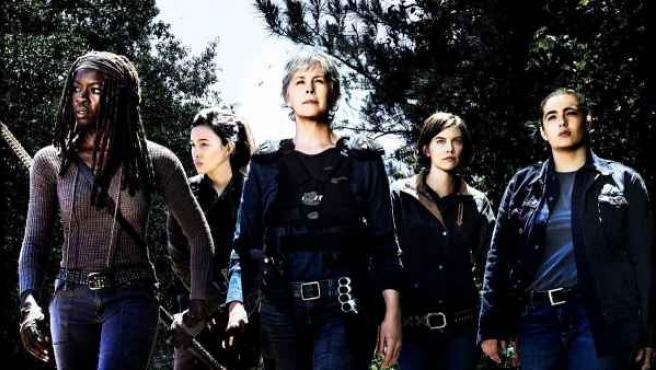 Las actrices de la octava temporada de la serie de zombis 'The Walking Dead'