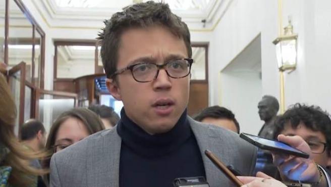 Errejón en los pasillos del Congreso de los Diputados.